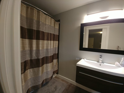 painting nanaimo residential bathroom